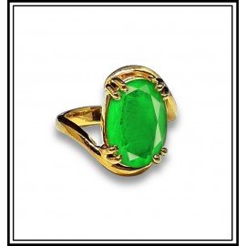 Astrological Emerald Gold Ring