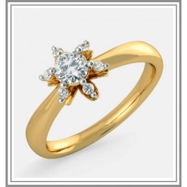 Diamond Pre Set Solitaire Ring In 18Kt Gold