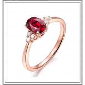Stunning Ruby & Diamond Rose Gold Ring