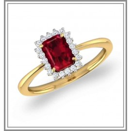 Haze Elegance Ruby Ring
